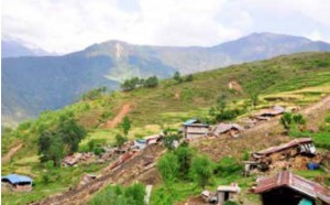 Tatopani, Sindhupalchowk after an earthquake